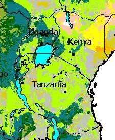 <p>The colours on the map show the <b>slope steepness (gradient) of the land</b> which is suitable for run-off farming from.e.g. roads. </p>      <p>© RELMA/ICRAF, Nairobi</p>