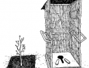 Simple compost toilet for tree planting